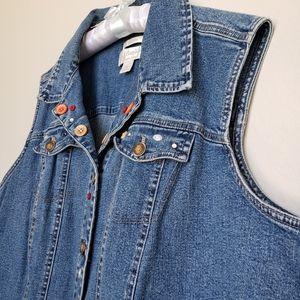 CJ Banks Jackets & Coats - Christopher & Banks denim jeans vest size 2X